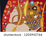 abstract background  young girl ... | Shutterstock .eps vector #1203942766