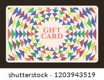 gift card with abstract... | Shutterstock .eps vector #1203943519