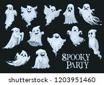 ghosts of halloween holiday... | Shutterstock .eps vector #1203951460