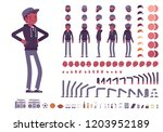 young black man character... | Shutterstock .eps vector #1203952189
