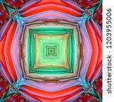 abstract 3d geometric pattern.... | Shutterstock . vector #1203955006
