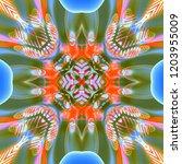abstract 3d geometric pattern.... | Shutterstock . vector #1203955009