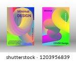 cover design. colorful liquid... | Shutterstock .eps vector #1203956839