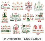 christmas gift cards posters... | Shutterstock .eps vector #1203962806
