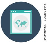 browsing isolated vector icon... | Shutterstock .eps vector #1203971446