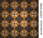 mandalas on the background.... | Shutterstock .eps vector #1203972400