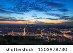 the french city of lyon during... | Shutterstock . vector #1203978730
