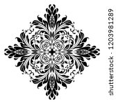 damask graphic ornament. floral ... | Shutterstock . vector #1203981289
