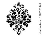 damask graphic ornament. floral ... | Shutterstock . vector #1203981469