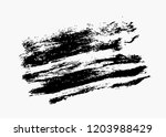 black vector brush stroke | Shutterstock .eps vector #1203988429