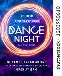 night dance party music night... | Shutterstock .eps vector #1203990610