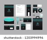 corporate identity set template ... | Shutterstock .eps vector #1203994996