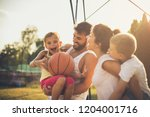 day with sport and fun. family... | Shutterstock . vector #1204001716