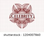 red linear rosette with text... | Shutterstock .eps vector #1204007860