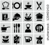 cooking and kitchen icons | Shutterstock .eps vector #120401410