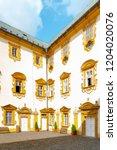 courtyard of lemberk castle in... | Shutterstock . vector #1204020076
