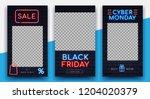 illuminated neon signs black... | Shutterstock .eps vector #1204020379