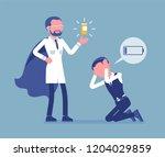 doping for male clerk. office... | Shutterstock .eps vector #1204029859