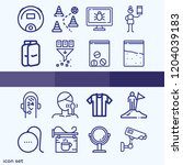 simple set of 16 icons related... | Shutterstock .eps vector #1204039183