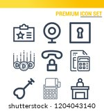 simple set of  9 outline icons... | Shutterstock .eps vector #1204043140
