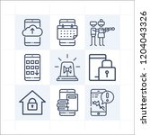 simple set of 9 icons related... | Shutterstock .eps vector #1204043326