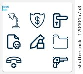 simple set of  outline icons on ... | Shutterstock .eps vector #1204045753