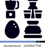 set of 4 food filled icons such ... | Shutterstock .eps vector #1204047700