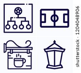 simple set of 4 icons related... | Shutterstock .eps vector #1204048906