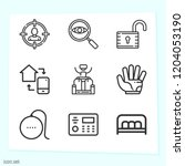 simple set of 9 icons related... | Shutterstock .eps vector #1204053190