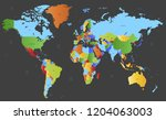 color world map vector | Shutterstock .eps vector #1204063003