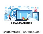 people using online device e...   Shutterstock .eps vector #1204066636