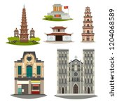 vietnam vector building... | Shutterstock .eps vector #1204068589