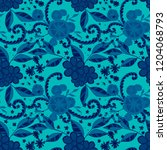 small flowers. seamless pattern ... | Shutterstock .eps vector #1204068793