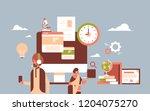 indian people headset using... | Shutterstock .eps vector #1204075270