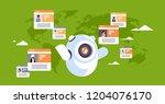 robot chatbot online messenger... | Shutterstock .eps vector #1204076170