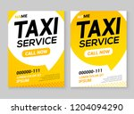 taxi service layout template... | Shutterstock .eps vector #1204094290
