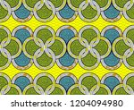 textile fashion  african print... | Shutterstock .eps vector #1204094980
