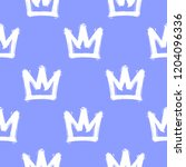 seamless pattern with white... | Shutterstock .eps vector #1204096336