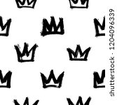 seamless pattern with crowns... | Shutterstock .eps vector #1204096339