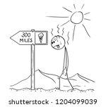 cartoon stick drawing...   Shutterstock .eps vector #1204099039