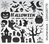 halloween vector icon... | Shutterstock .eps vector #1204100770