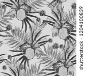 seamless pattern with... | Shutterstock . vector #1204100839