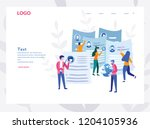 concept cv  human resources ... | Shutterstock .eps vector #1204105936