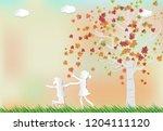 paper art of illustration... | Shutterstock .eps vector #1204111120