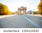 triumphal arch at tuileries... | Shutterstock . vector #1204114330