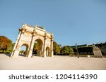 triumphal arch at tuileries... | Shutterstock . vector #1204114390