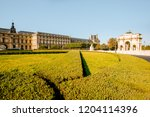 triumphal arch at tuileries... | Shutterstock . vector #1204114396