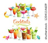 alcoholic cocklails banners.... | Shutterstock .eps vector #1204114609
