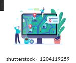business series  color 3  ... | Shutterstock .eps vector #1204119259