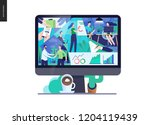 business series  color 3  about ... | Shutterstock .eps vector #1204119439